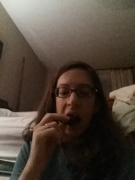 5 a.m., eating a bonk breaker, sitting on the floor of my former bedroom.