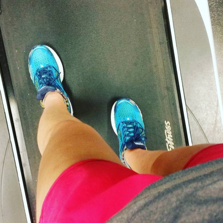 Last run on the treadmill - 3 miles with 5x strides