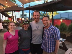 Easy miles and then beer with Keeley, Shannon, and Mark Remy in PDX